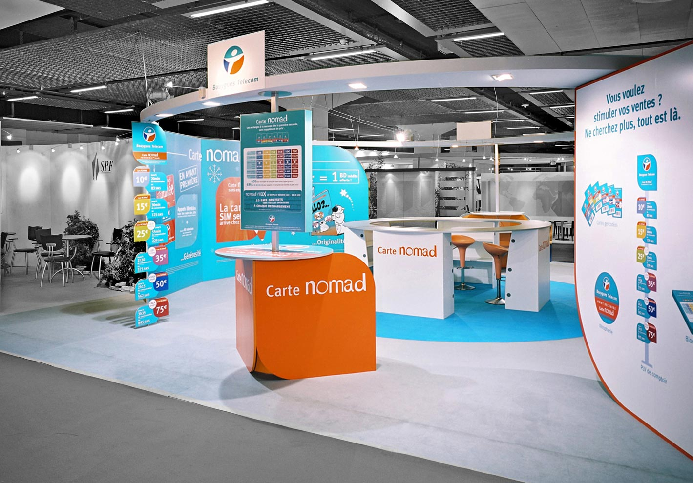 Stands In Expo : Bouygues telecom trajectoire expositions